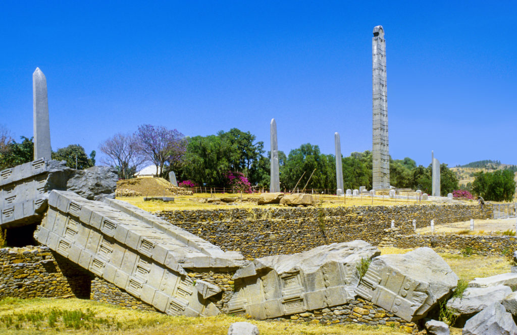 Axum Ethiopia Africa ruins by travelview, Shutterstock