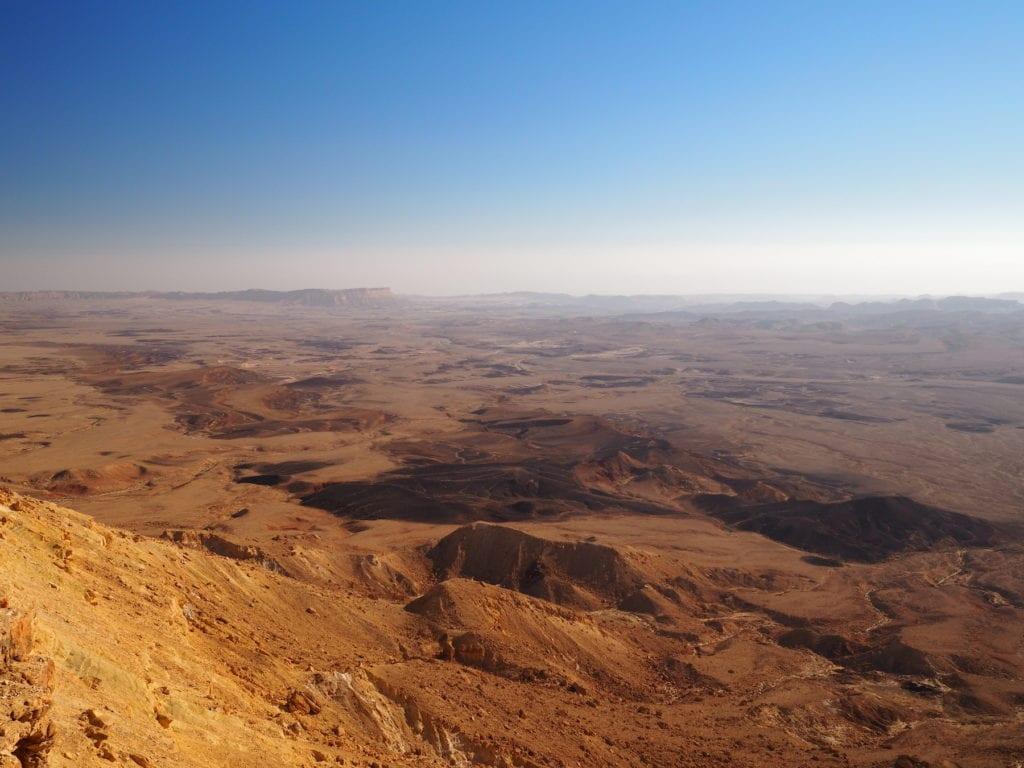 View towards Ramon Crater Negev Desert Israel by Nadin_aus_Berlin, Shuttertock