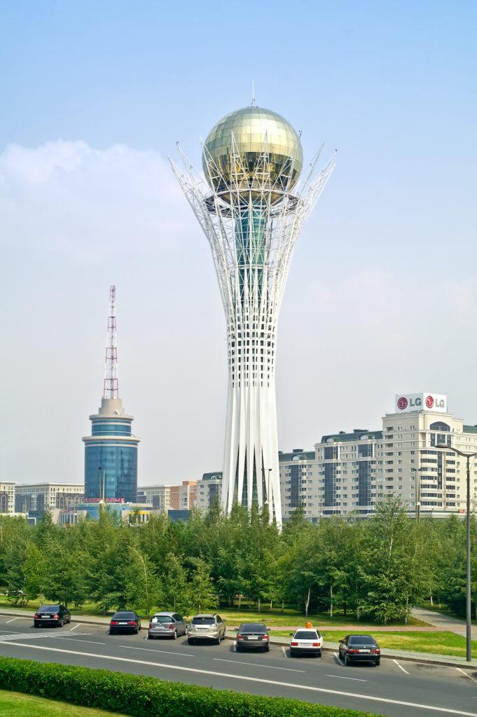 Baiterek Tower Nur-Sultan Kazakhstan by ppt Shutterstock