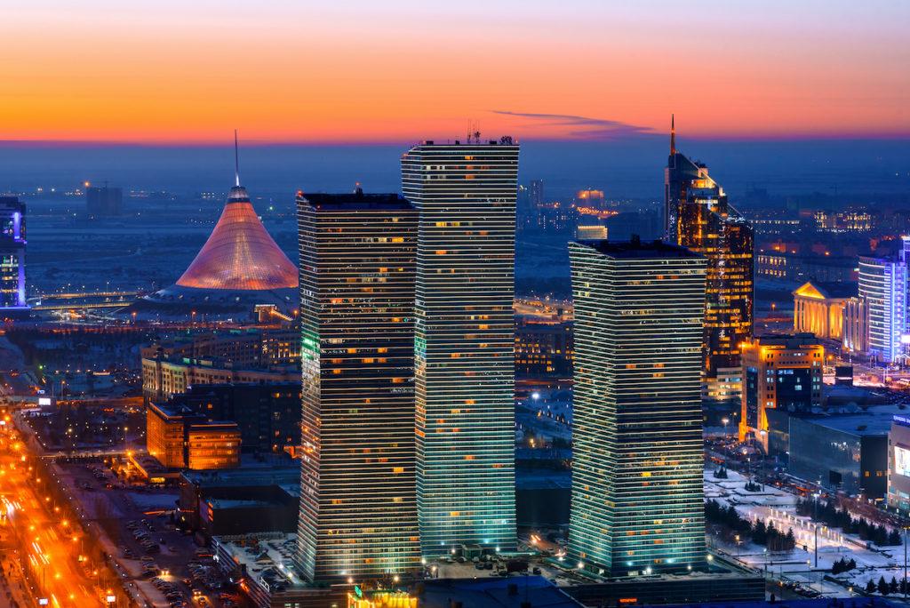 Northern Lights Nur-Sultan Kazakhstan by evgenykz Shutterstock