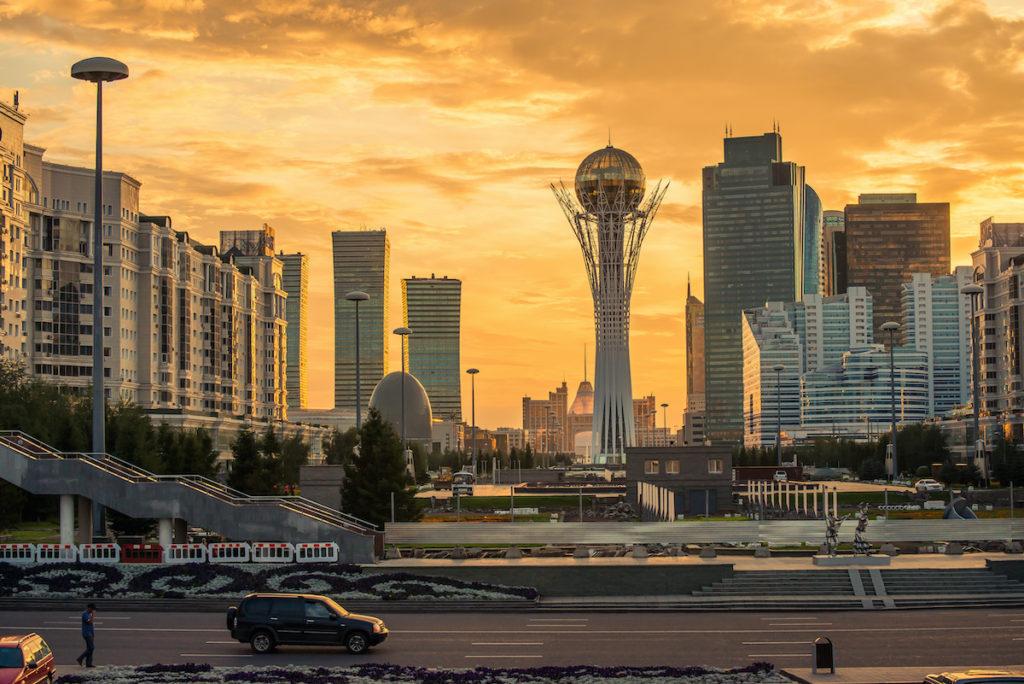 Northern Lights View Nur-Sultan Kazakhstan by Tracy ben Shutterstock
