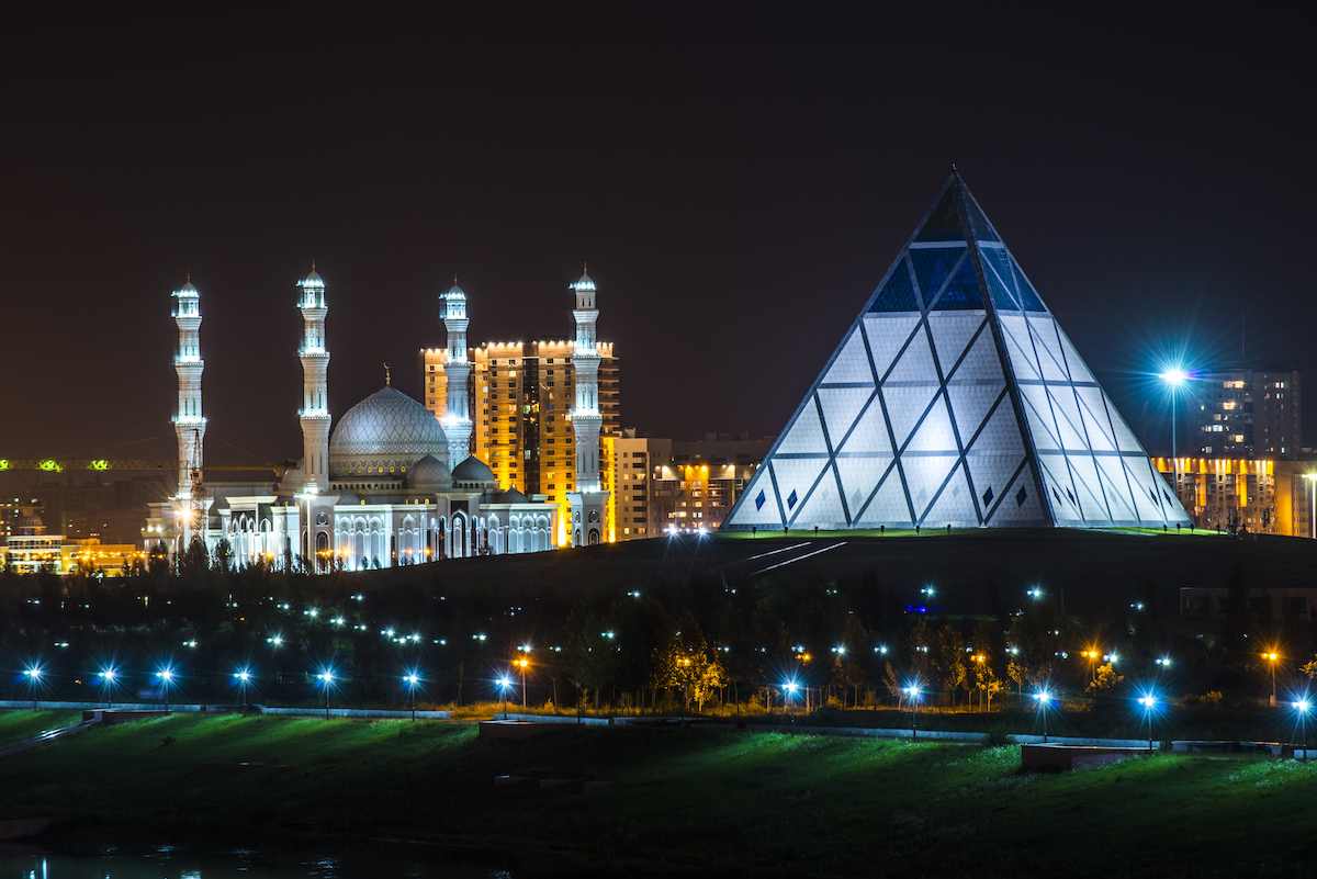 Palace of Peace and Reconciliation Our-SUltan Kazakhstan by Tracy ben Shutterstock