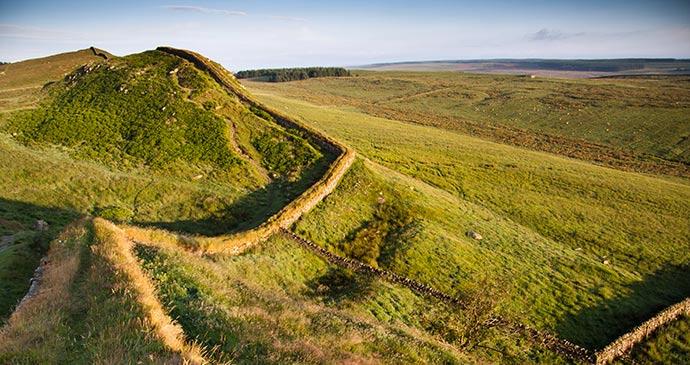 Hadrian's Wall Northumberland UK by duchy Shutterstock