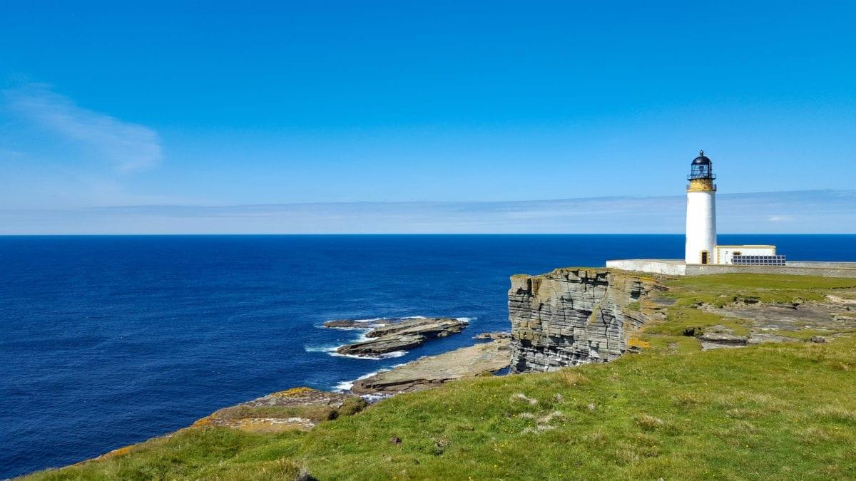 Lighthouse on Westray Orkney by Chris Noe, SHutterstock