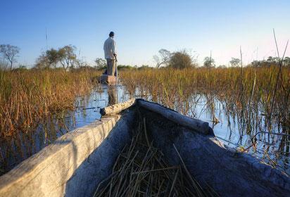 Okavango Delta Boat trip safari Botswana by PlusONE Shutterstock