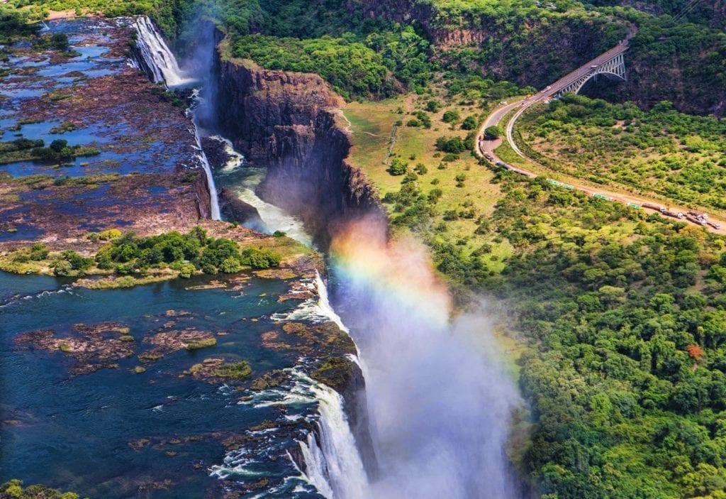 Victoria Falls Aeriel View Travel Winter Sun Zambia by Eva Mont Shutterstock
