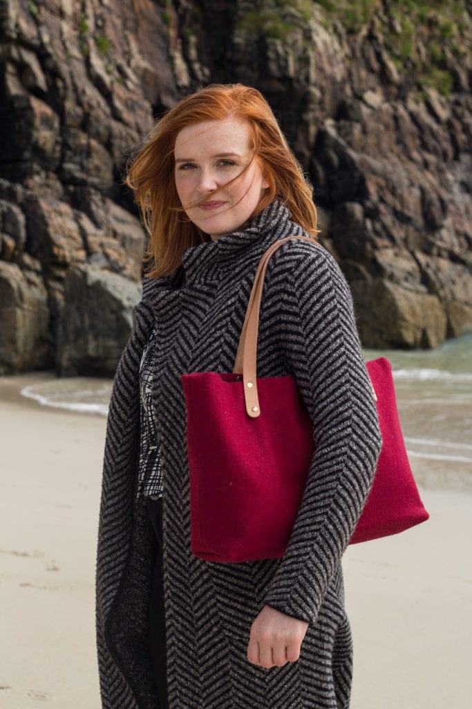 modren bags female business textile