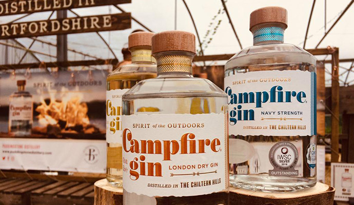Campfire gin Chilterns by Anna Moores
