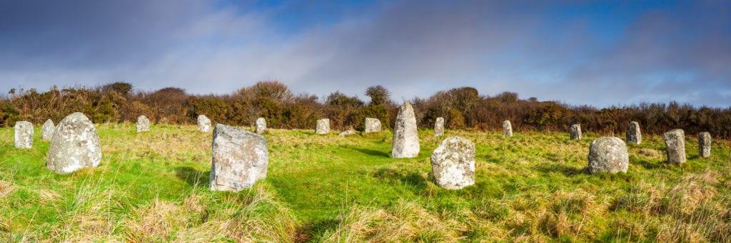 Boscawen-un stone circle Cornwall UK by Waterborough Wikimedia Commons