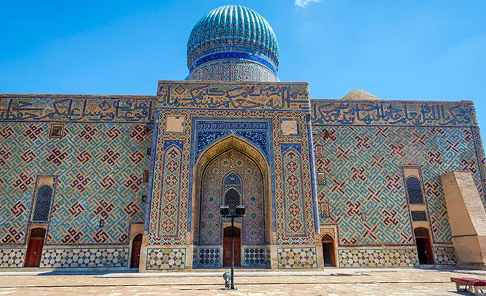 Turkestan Kazakhstan by Djusha, Shutterstock