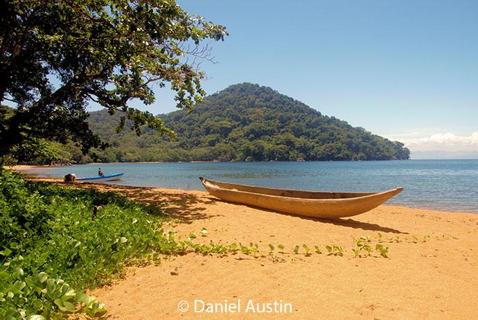 Beach, pirogue, Nosy-Mangabe, Masoala, Madagascar by Daniel Austin