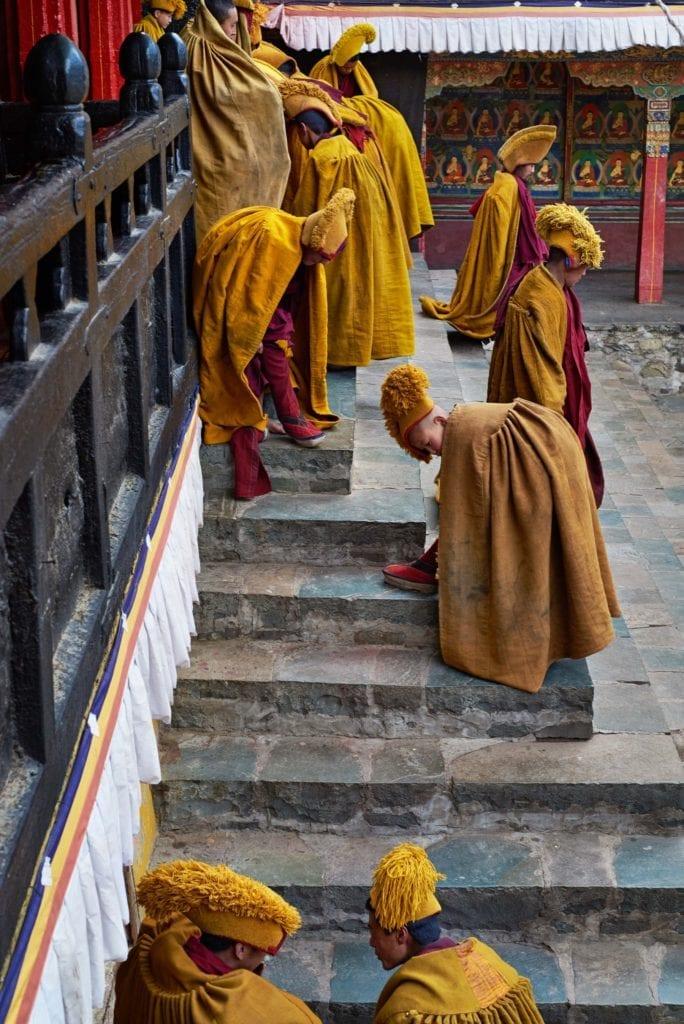 Monks Tashilhunpo Monastery Tibet by Simon Urwin