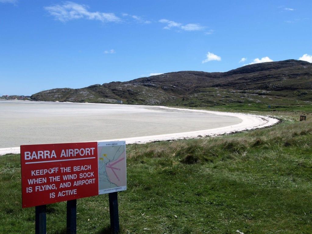Barra airport, Outer Hebrides by Bryan Hyde, Shutterstock