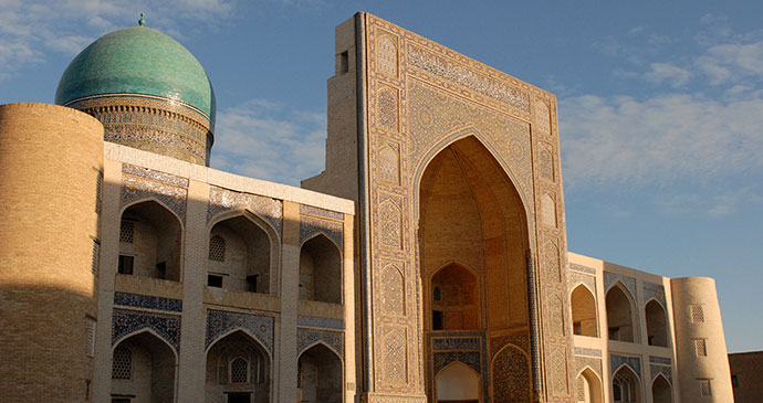 Poi Kalyon mosque in Bukhara Uzbekistan by Sophie and Max Lovell-Hoare