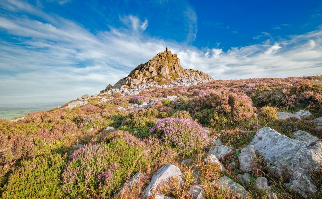 Stiperstones Shropshire England small hills