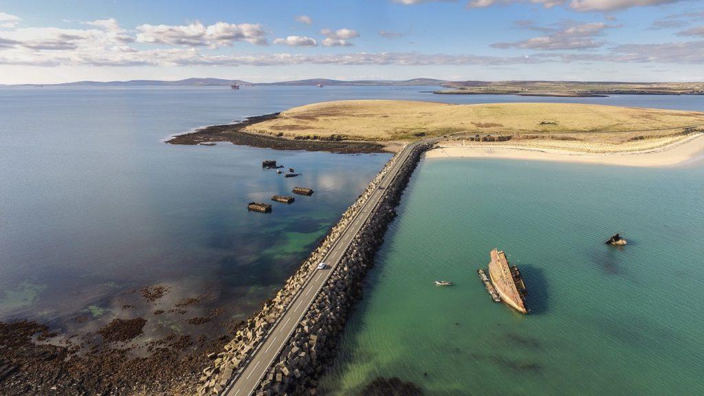 Churchill Barriers beach Orkney