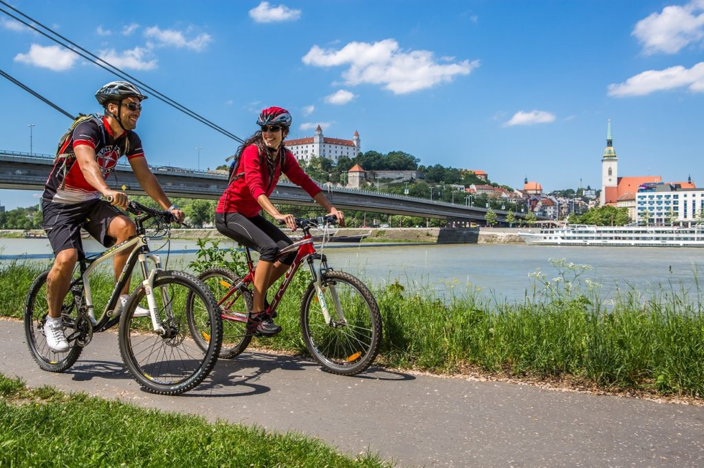 Cycling Danube Bratislava summer