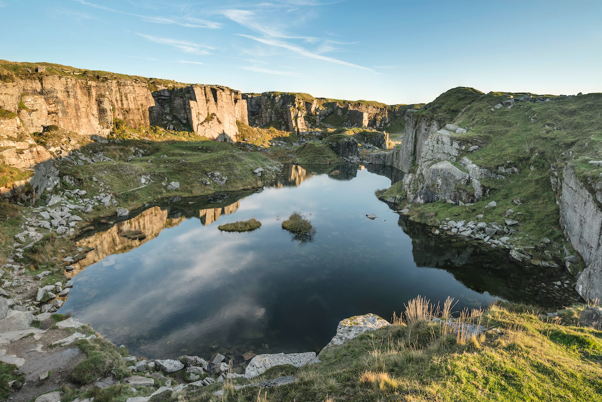 Foggintor Quarry wild swimming Dartmoor Devon by Matt Gibson Shutterstock
