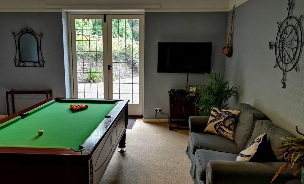 Bossington Hall snooker room