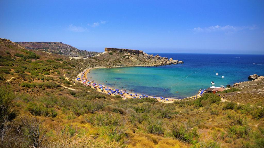 Ghajn Tuffieha Bay Malta by www.viewingmalta.com