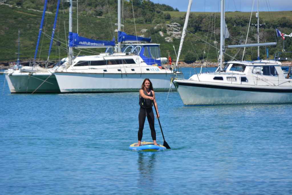 Paddleboarding Lizzie carr