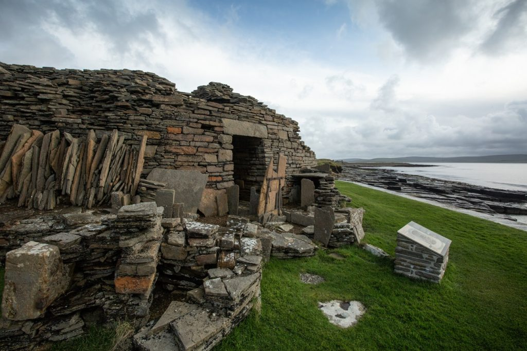 Midhowe chambered cairn Rousay Orkney by Mark Rowe archaeological sites orkney