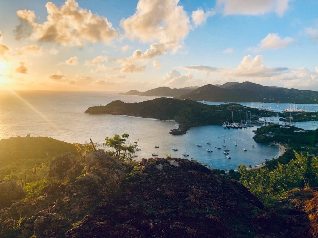 English Harbour View Antigua by Rick Jamison