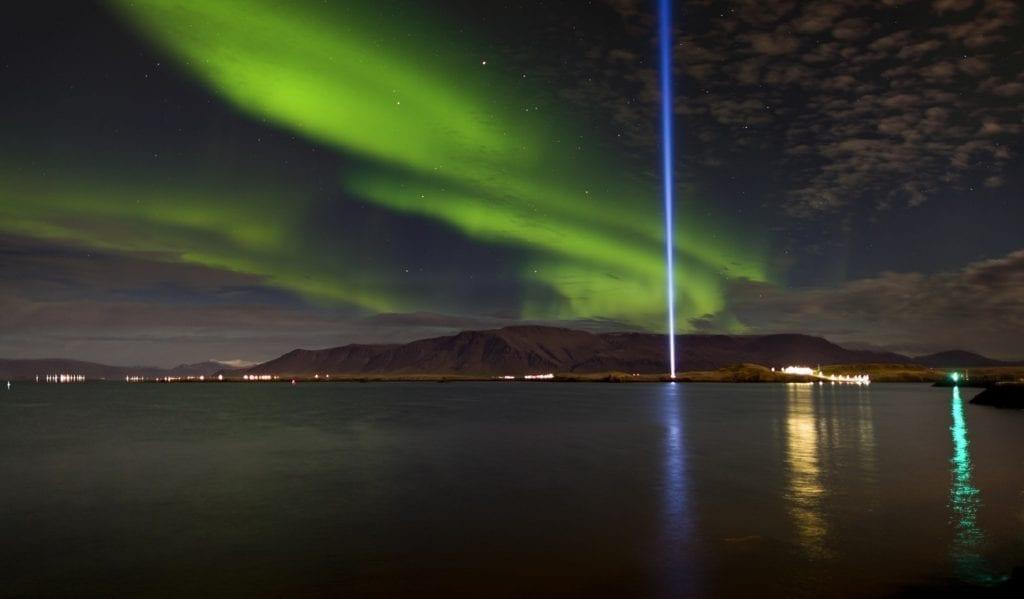 John Lennon Peace Tower, Iceland by  Ragnar Th. Sigurdsson, Visit Reykjavik  Reykjavik natural attractions
