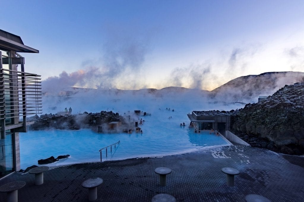 Blue lagoon, Iceland by McKay Savage, Wikimedia Commons day trip from Reykjavik