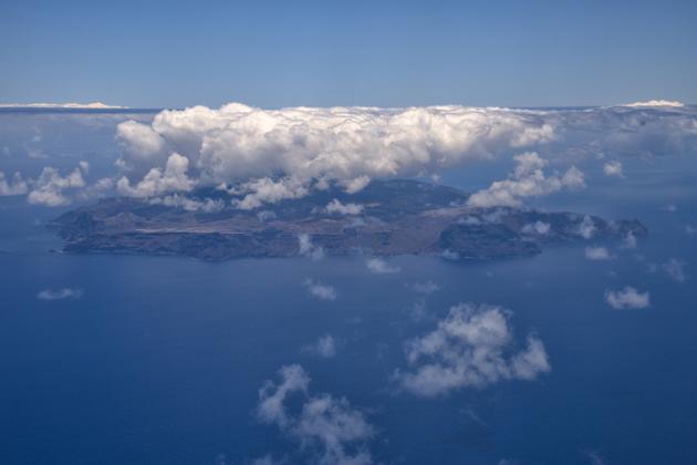 Aerial view St Helena by Scott Bennett