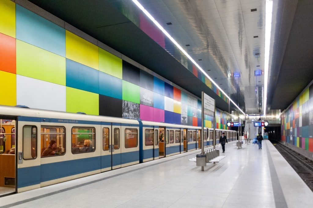 Georg-Brauchle-Ring Munich Germany beautiful metro stations