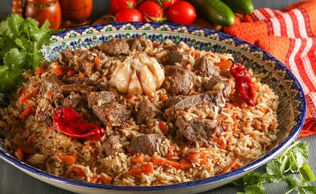 Plov National Dish Food and Drink Uzbekistan by Michael Stein Shutterstock