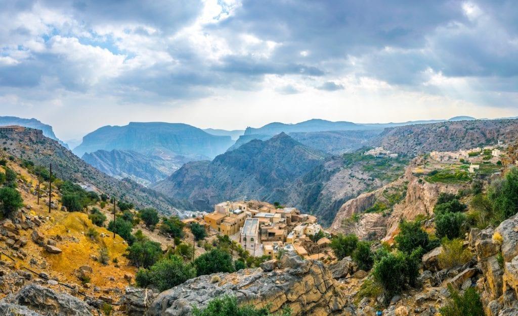 Rural village Al Jabal Al Akhdar Mountains Oman by trabantos Shutterstock