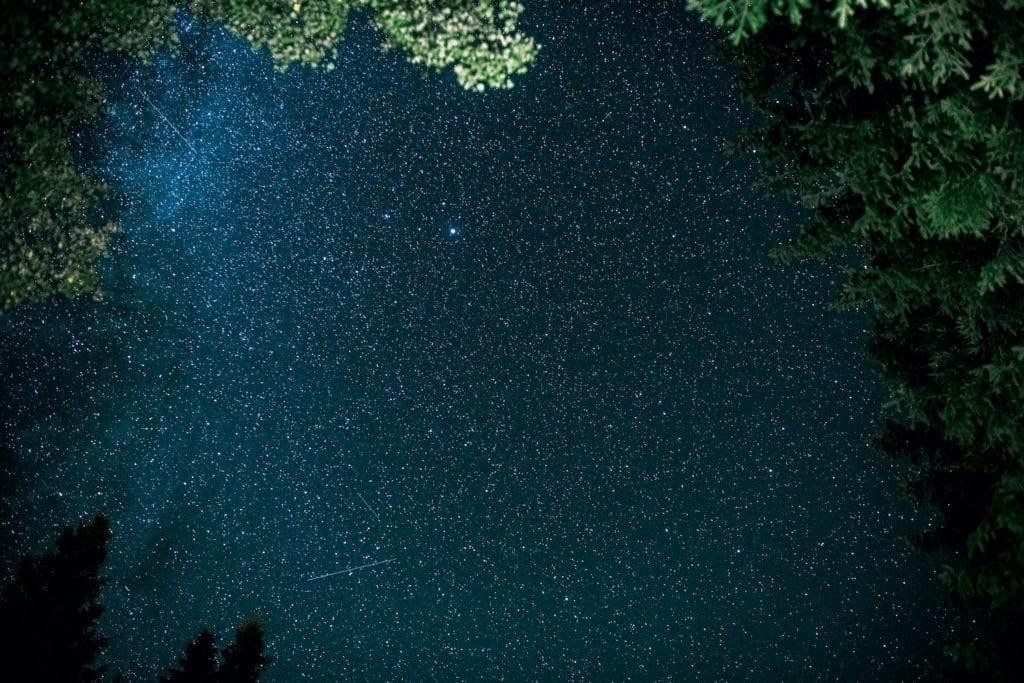 Stars over Kielder Forest Northumberland by Graeme J. Baty Shutterstock
