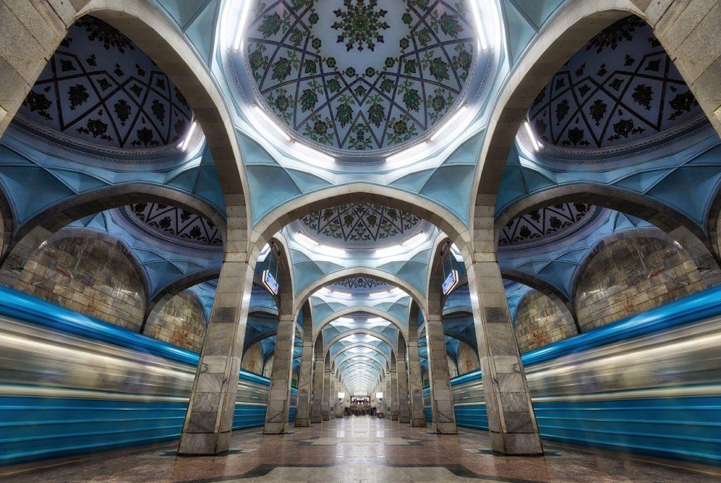 Tashkent Uzbekistan beautiful metro stations