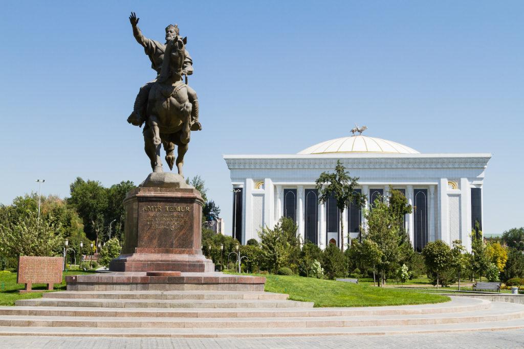 Amir Timur statue Tashkent Uzbekistan by Laurent Nilles