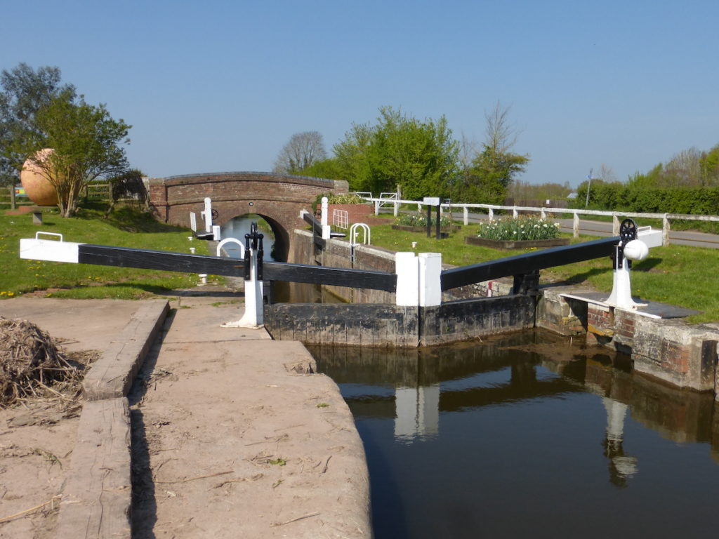 Lock Bridgewater and Taunton Canal Somerset by Canal River Trust