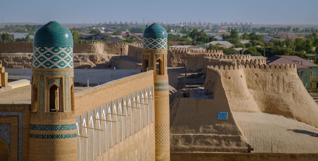 City Walls Khiva Uzbekistan by Laurent Nilles