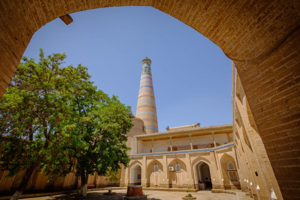 Islam Khoja Madrasa Khiva Uzbekistan by Laurent Nilles