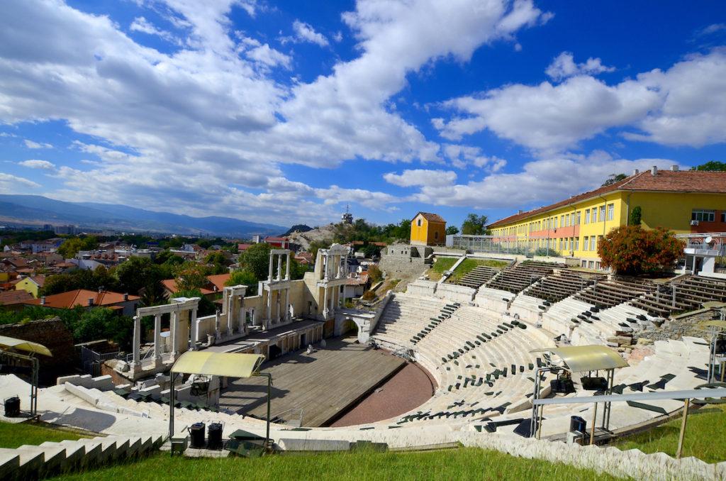 Plovdiv amphitheatre ruins Bulgaria by meunierd Shutterstock