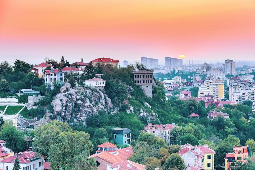 Plovdiv panorama skyline Bulgaria by Nataliya Nazarova Shutterstock