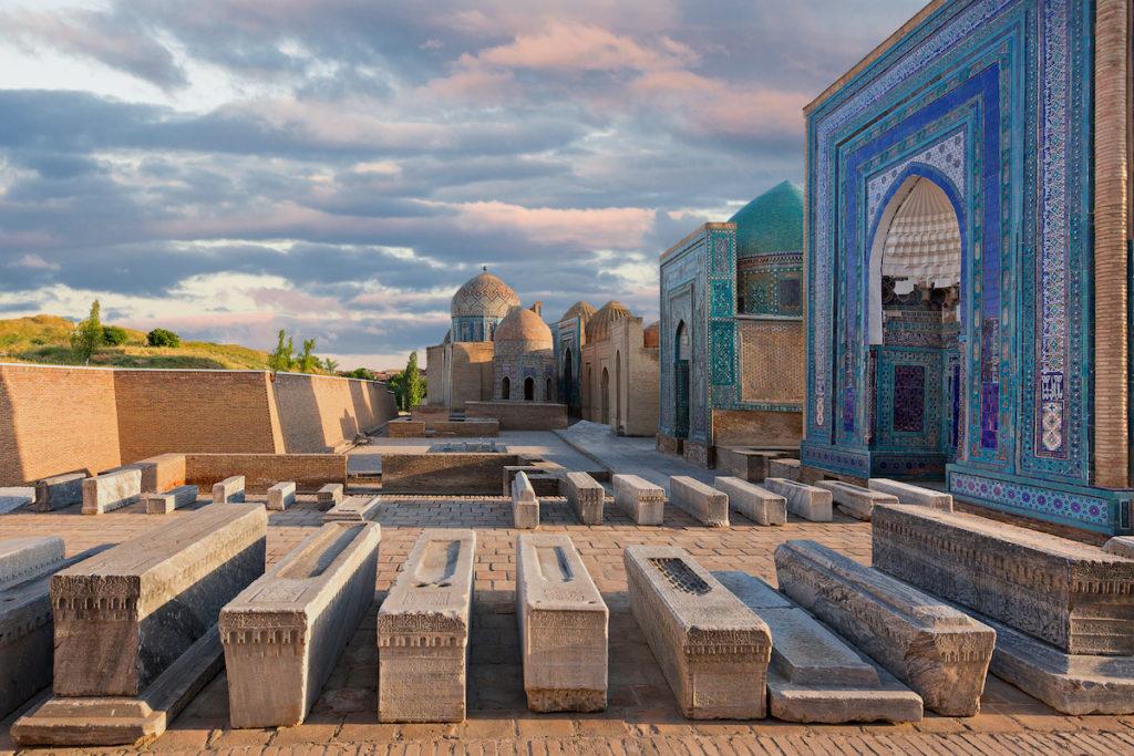 Shah i Zinda Samarkand by MehmetO Shutterstock
