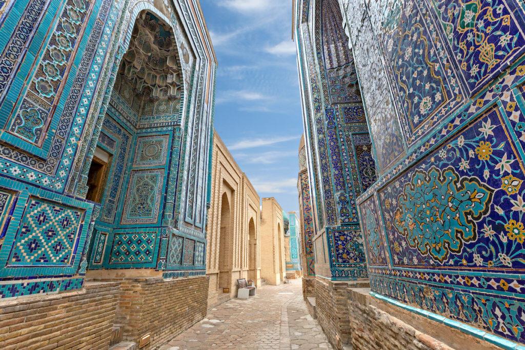 Tiles Shah i Zinda Samarkand by MehmetO Shutterstock