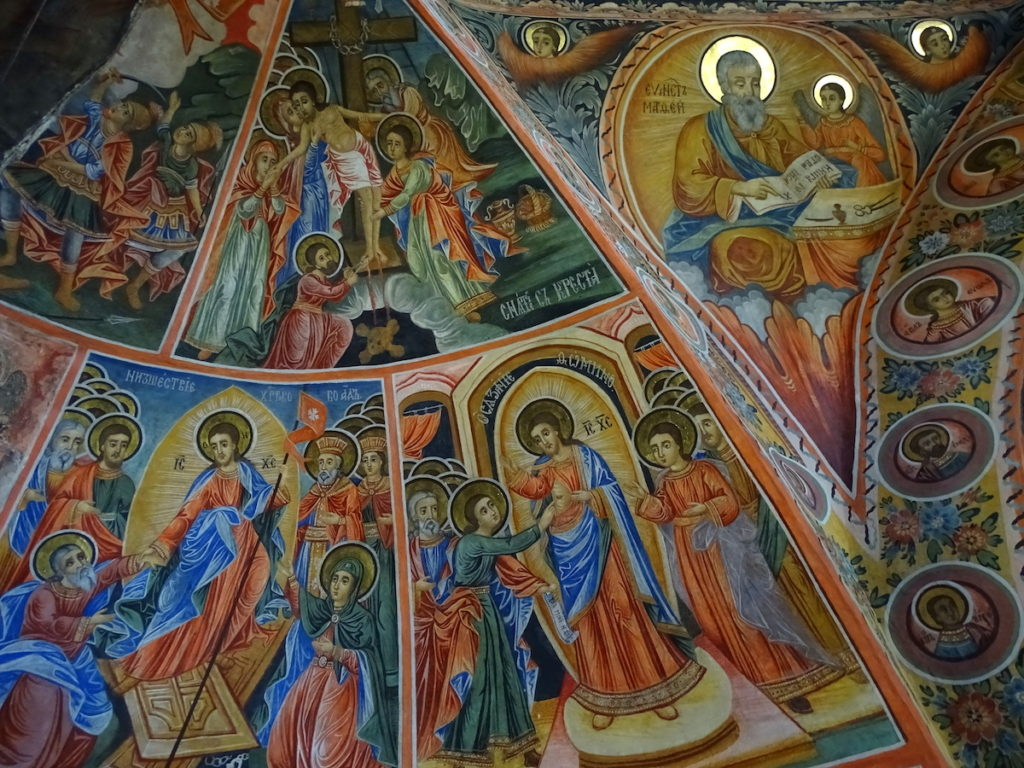 Preobrazhenski Monastery Bulgaria Fresco by Adam Jones Wikimedia