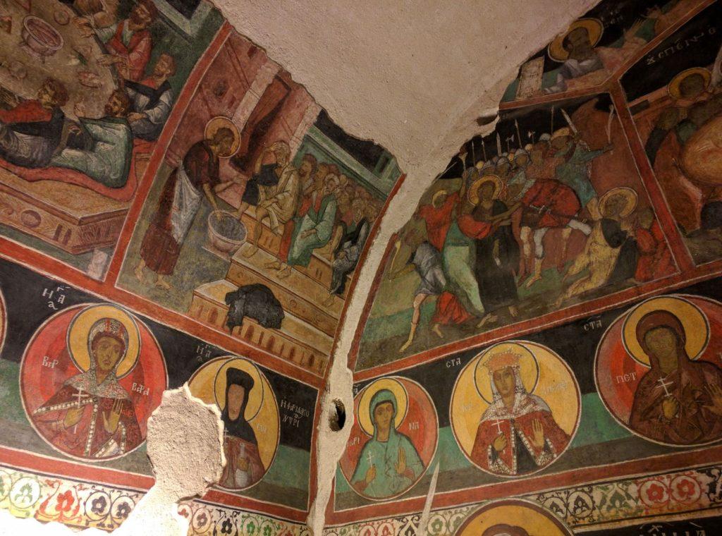 Fresco Kremikovtsi monastery Bulgaria by Камен Ханджиев Wikimedia Commons