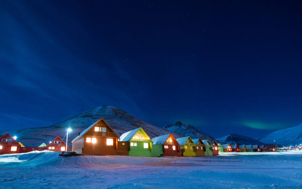 Longyearbyen Svalbard polar night by ginger_polina_bublik Shutterstock