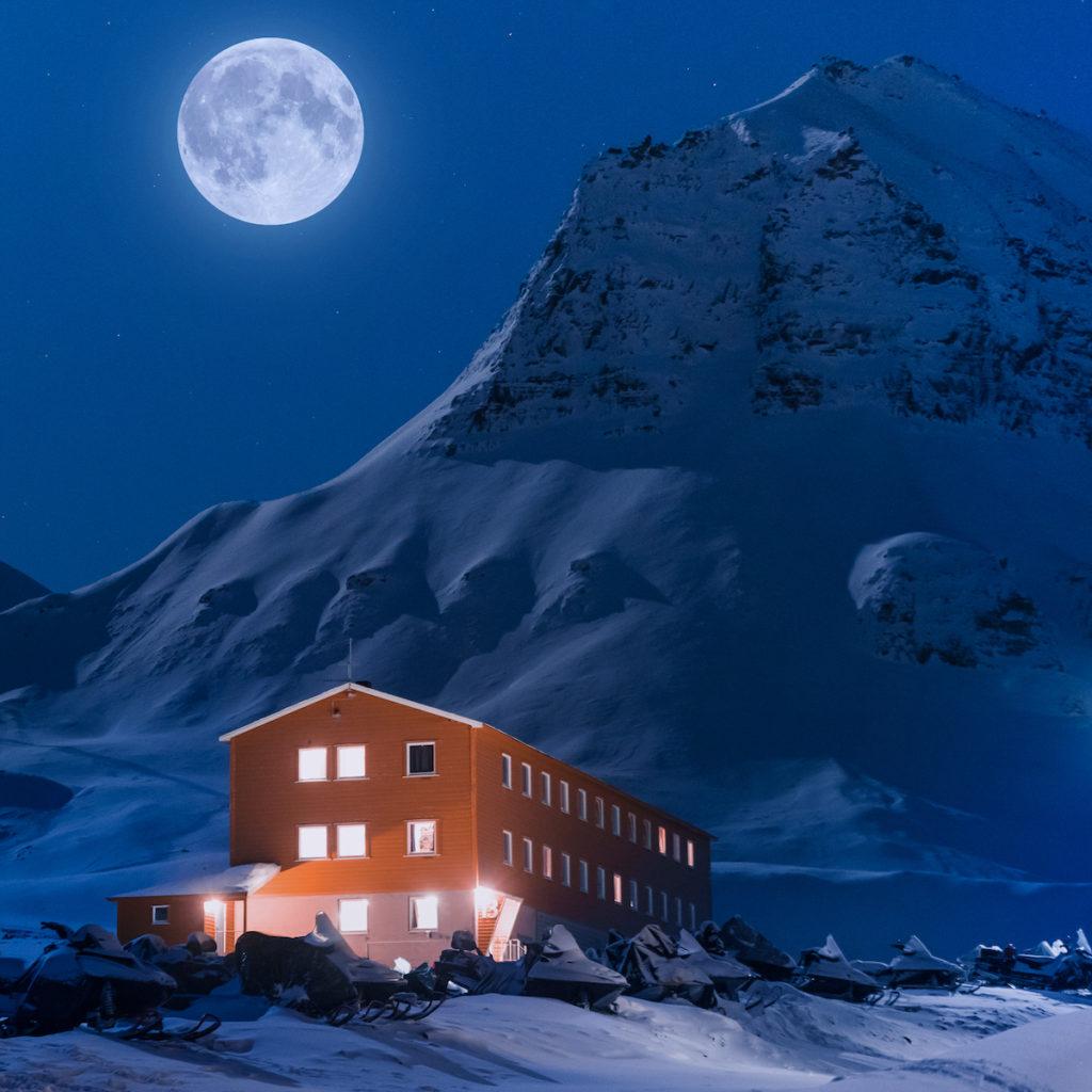 Svalbard moon Longyearbyen by ginger_polina_bublik Shutterstock
