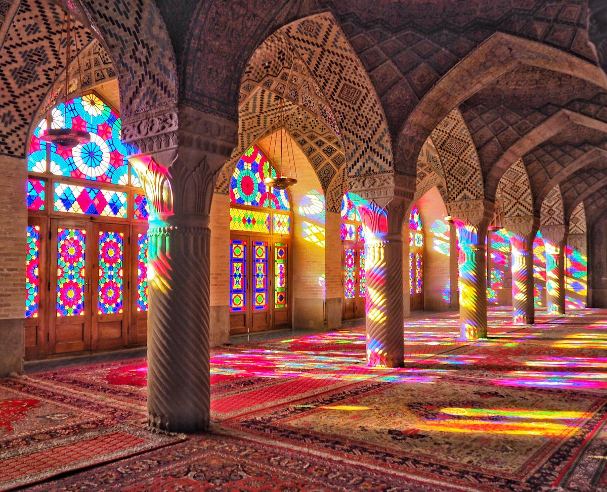Nasir Al-Mulk Mosque Shiraz Iran Colourful Places by Cat MacGregor Shutterstock