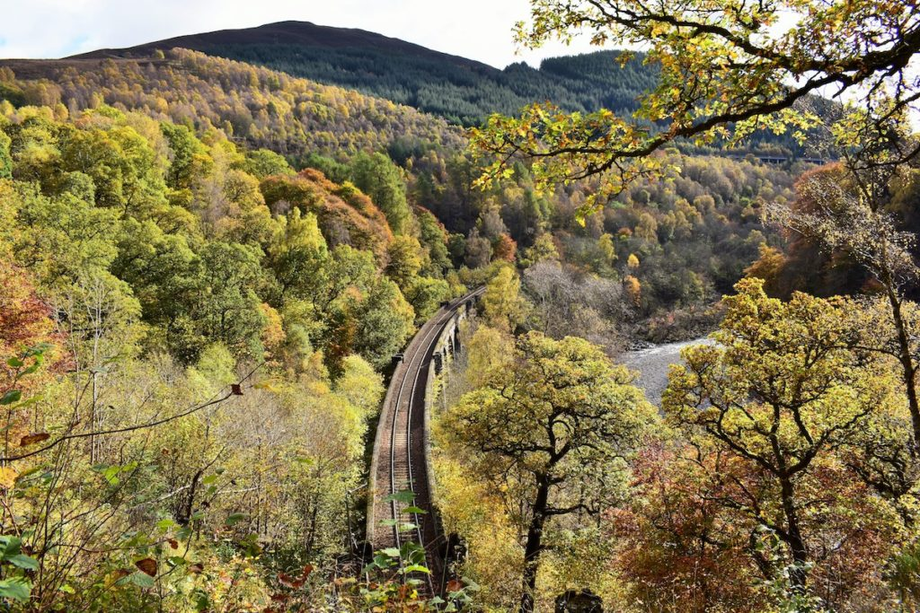 Pass of Killiecrankie Highland Main Line Scotland Scottish rails trips by Ross Pearce Shutterstock