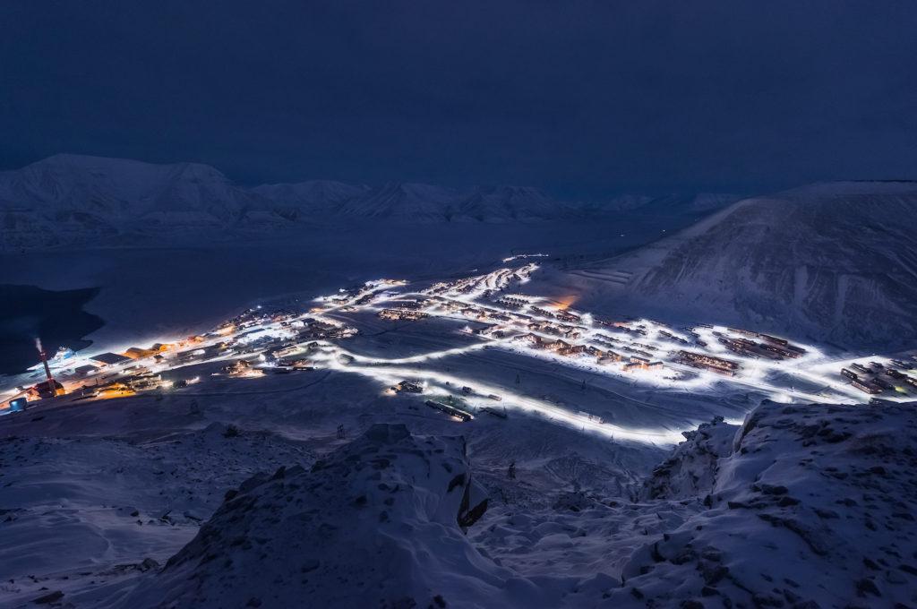 Longyearbyen polar night Svalbard by ginger_polina_bublik Shutterstock
